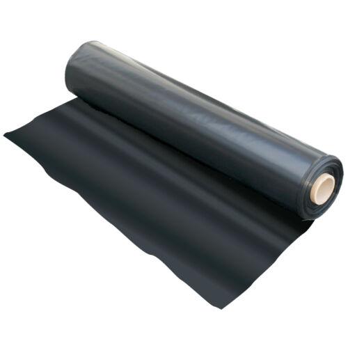 4M X 40M 500G BLACK HEAVY DUTY POLYTHENE PLASTIC SHEETING GARDEN DIY MATERIAL