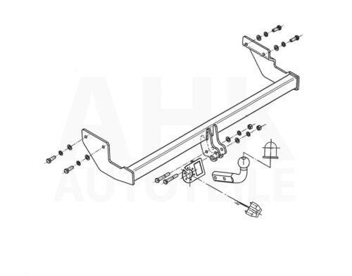 Für Kia Picanto BA//SA 5-Tür Anhängerkupplung starr+ES 13p ABE