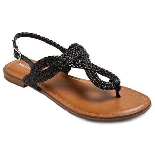 Womens Merona Esma Black Thong C28 Sandals Sz 6 NWOB C28 Thong 5b5d32
