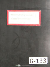 Gisholt Ujp Dynetric Balancing Machine Operations And Maintenance Manual 1945