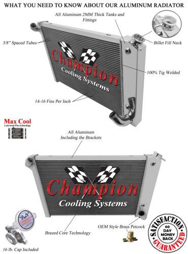 4 Row All Aluminum Champion Radiator DR
