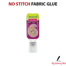 Fabric Glue Textile Hemming Adhesive Bond Craft Sewing No Stitch Strong Glue