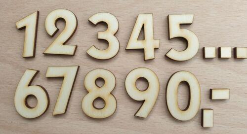 Cifras de madera el apartado número 0-9, en tamaño deseo número 2-30 cm precio pizarra