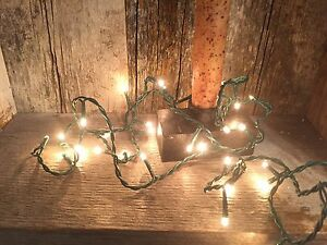 Teeny TINY STRING OF 50 RICE LIGHTS--adorable PRIMITIVE LIGHTS--11 GREEN eBay
