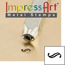 Metal stamp, punch, floral pattern Flourish H, 3mm