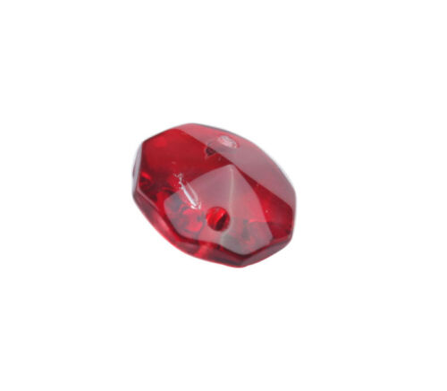 50PCS 2 Holes Red Crystal Glass Octagon Chandelier Parts