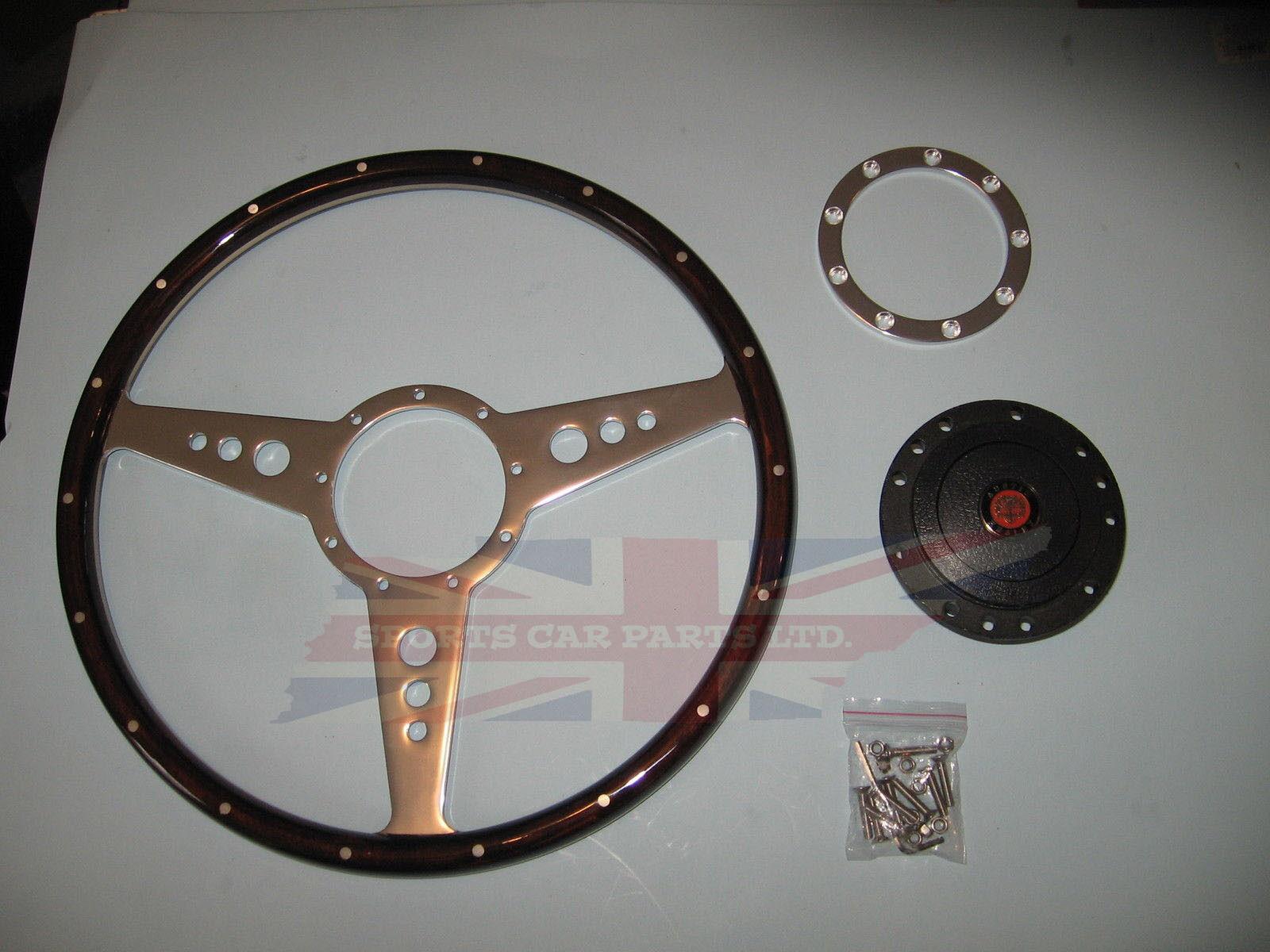"""New 13/"""" Vinyl Steering Wheel /& Hub Adapter Austin Healey Sprite Bugeye 1958-1963"""