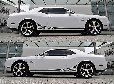 2008-2014 Dodge Challenger SXT RT SRT8 Hockey Racing Stripes #33