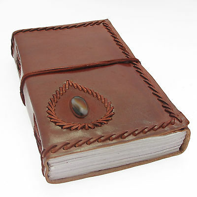 Fair Trade Handmade Eco Friendly XXL Stoned Leather Journal 2nd Quality