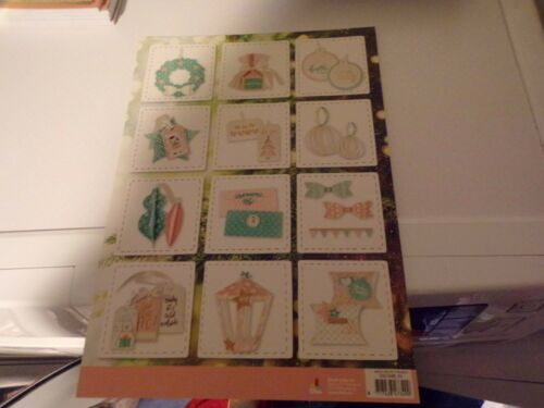 12 PAPER PROJECTS//30X21 CM NEW NEW NO SCISSORS NEED CHRISTMAS CRAFTING BOOK D