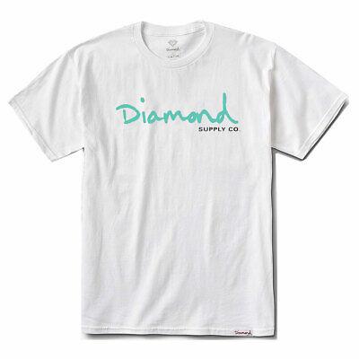 Diamond Supply Co Men/'s Paradise OG Script Short Sleeve T Shirt Black Clothing