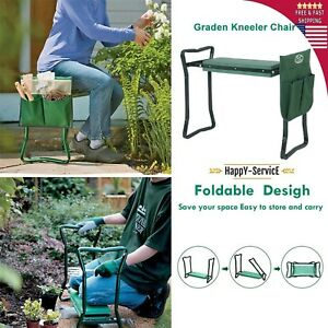Phenomenal Details About Folding Garden Kneeler Bench Kneeling Soft Eva Pad Seat With Stool Pouch Cjindustries Chair Design For Home Cjindustriesco