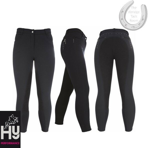 HyPerformance Sandown Ladies Breeches – Charcoal 28  – Swarovski Crystals – XMAS