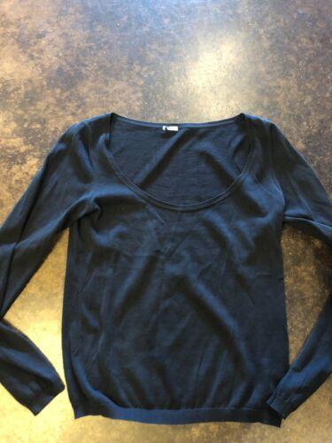 Malo black Cotton Scoop Neck Sweater 38 XS