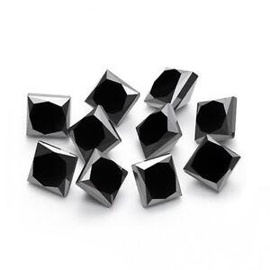 1-pcs-3mm-Natural-Loose-Black-Diamond-Princess-Cut-Black-Diamond-I3-Clarity