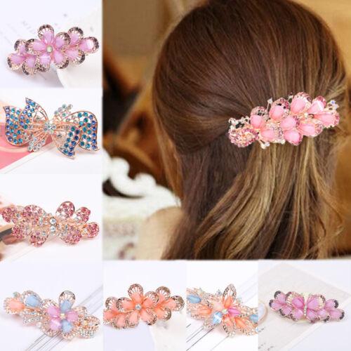 1PC Fashion Hair Clip Crystal Rhinestone Flower Hairpin Barrette Women Jewelry