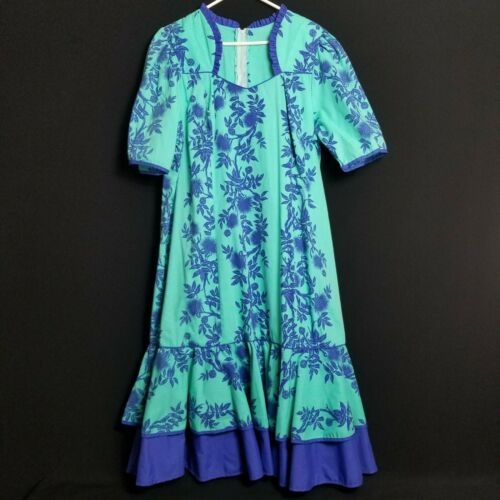 Vintage T&L Muumuu Factory Hawaii Muumuu Dress Haw