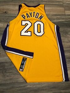 New Authentic Reebok Los Angeles Lakers Gary Payton Jersey Size 52 ...