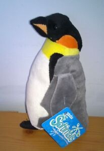 Emperor-Penguin-Soft-toy-plush-6-1-2-in-Softimals-Deluxe-Base-New-with-tags