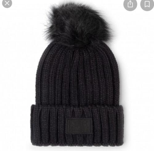 Under Armour Womens Snowcrest Pom Beanie Hat Black OSFA NWT Free Shipping