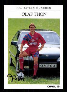 Olaf-Thon-Autogrammkarte-Bayern-Muenchen-1991-92-Original-Signiert-A-139061