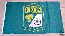 Club Leon Flag Banner 3x5 ft Panzas Verdes Mexico Futbol Soccer Bandera