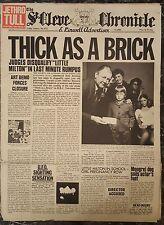 Jethro Tull - Thick as a Brick Vinyl LP Newspaper Sleeve Ex.Cond FREE POST