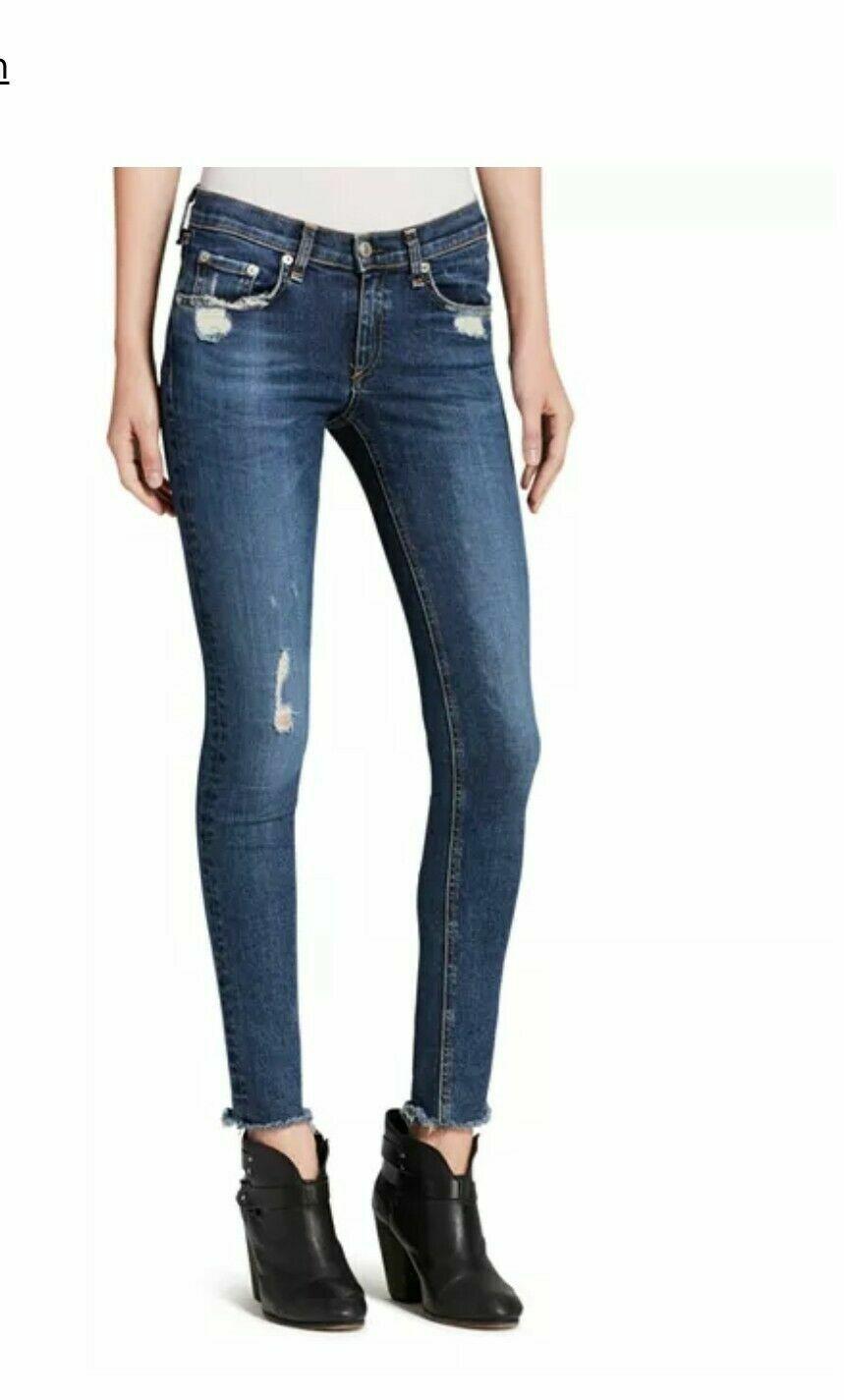 BONE  La Paz envejecido RAG & Jeans Ajustados Talla 23 Nuevo Con Etiquetas  225  costo real
