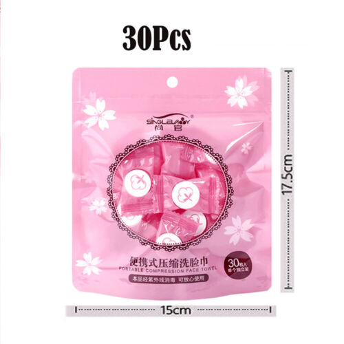 Compressed Face Towel Mini Coin Cotton Wipe Cloth Trave Disposable Washcloth 100