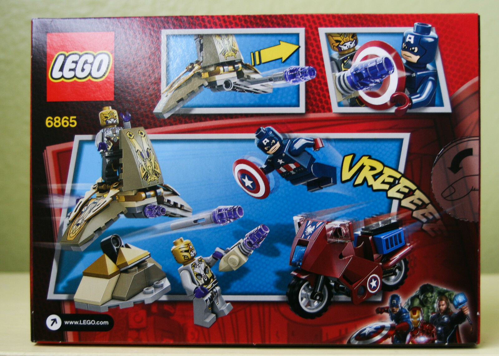 NEW LEGO MARVEL Avengers Super Heroes Captain America's America's America's Avenging Cycle 6865 cbd09b