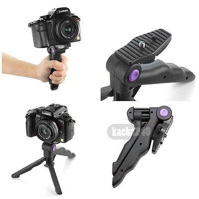 """2in1 1/4"""" Portable Folding Mini flexible tripod Camera Stand for Canon Nikon"""