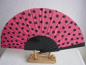 Handfächer Fächer Taschenfächer Aus Stoff Und Kunststoffstreben Fächer