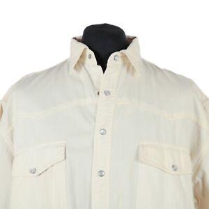 Vintage-Pearl-Popper-Western-Shirt-Cowboy-Denim-Retro-Snap-Jean-Wash