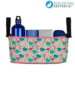 Keep-Me-Cosy-Pram-Organsier-Stroller-Caddy-Bag-Flamingo