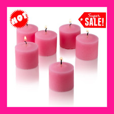 One Purple And Two Pink Scented Votive Candles With Candle Holders Set Of 3 Ebay
