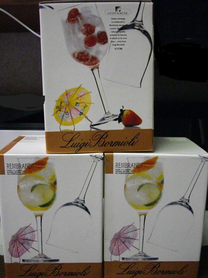 All Purpose Goblets Luigi Bormioli Set of 4 Michelangelo Masterpiece 19.15-Oz