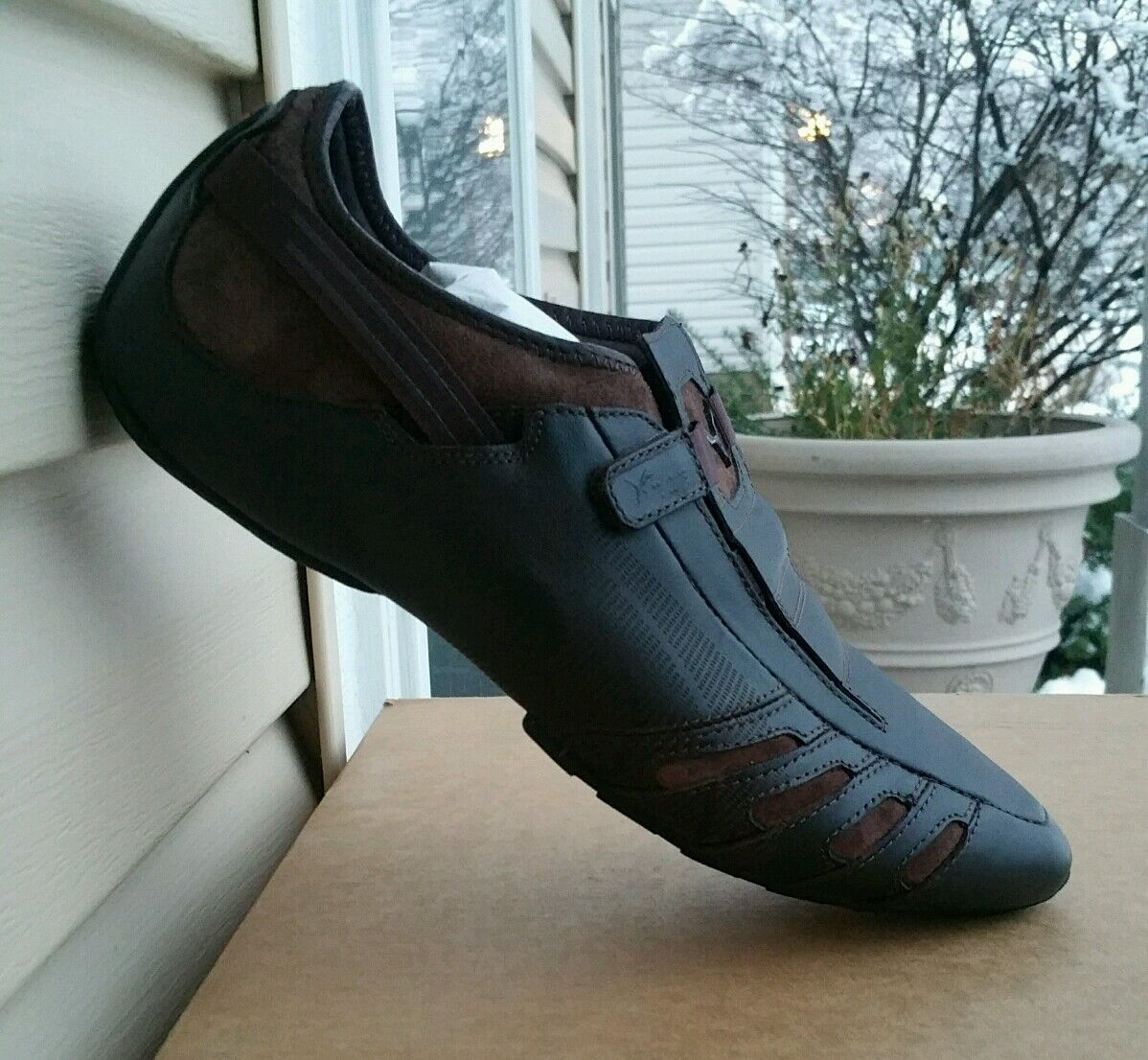 NEW** PUMA VEDANO V LEATHER MEN'S SHOES COFFEE BROWN ALL SIZES CASUAL DRESS ATHL