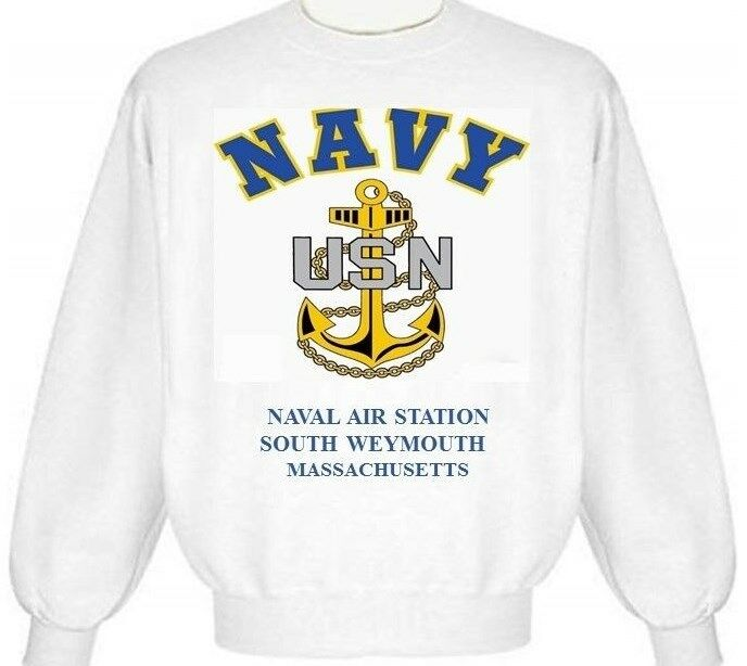 NAVAL AIR STATION SOUTH WEYMOUTH MASSACHUSETTS  ANCHOR EMBLEM SWEATSHIRT