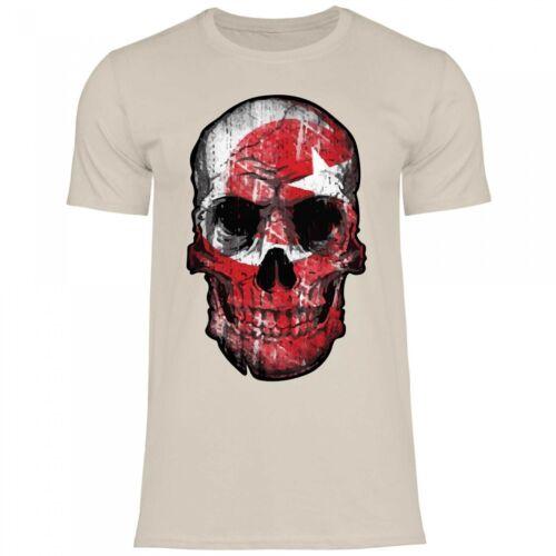 Royal Shirt df22 T-Shirt Hommes Turquie Turkiye DrapeauWM EM football tete de mort