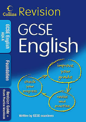 """1 of 1 - """"VERY GOOD"""" GCSE English Foundation: Revision Guide + Exam Practice Workbook (Co"""