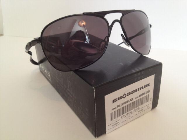 ab987e321d3 Oakley Crosshair Sunglasses Polished Black With Warm Grey Oo4060-05 ...