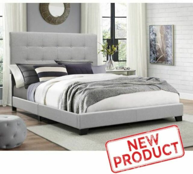 Bookcase Headboard Storage Bed Wood, Queen Platform Bed With Storage And Upholstered Headboard