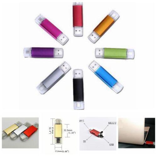 2TB 1TB Type-C OTG Micro USB Flash Drive Memory Stick Card Reader for Phone PC
