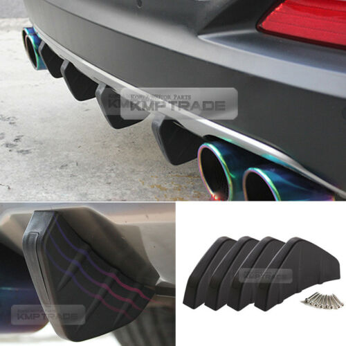 Bumper Diffuser Molding Point Garnish Lip Under Splitter Black for BUICK Car