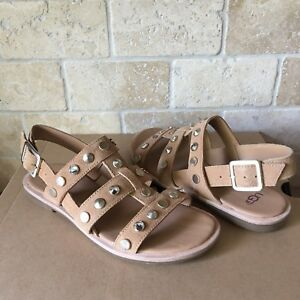 3d067c6d24d Details about UGG ZARIAH STUDDED BLING LATTE SUEDE GLADIATOR SANDALS SIZE  US 7.5 WOMENS