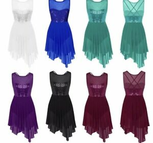 Lyrical Dance Costume Leotard Dress.In Stock.Competition.Contemporary Modern.UK
