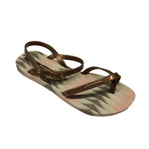 IPANEMA-sandalo-donna-beige-bronzo-FASHION-IV-FEM-100-caucciu-MADE-IN-BRAZIL
