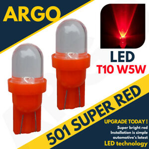 501-Led-Red-T10-Bulbs-Xenon-Side-Light-Hid-W5w-158-194-Halogen-Car-Interior-12v