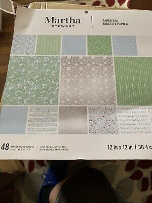 Martha Stewart 12x12 48 Sheets Scrapbook Craft Paper Pad Snowflake Xmas pointset