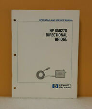 Hp 85027 90031 85027d Directional Bridge Operating Amp Service Manual
